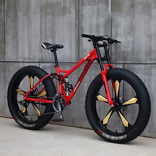 Mountain Bike A velocità Variabile Fuoristrada da Spiaggia Motoslitta per Adulti Pneumatici Super Larghi per Uomo E Donna, Le Biciclette Sono Adatte A Tutti I Tipi di Strade
