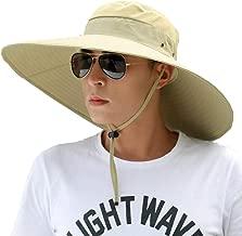 XUERUI Sombrero para El Sol Hombres Verano Protección UV Al Aire Libre UPF Al Aire Libre 50+ Tapa Protectora De Red Ventilación Lateral Ancha Puede Ser Empaquetado Pesca De Caza Sombrero De Playa