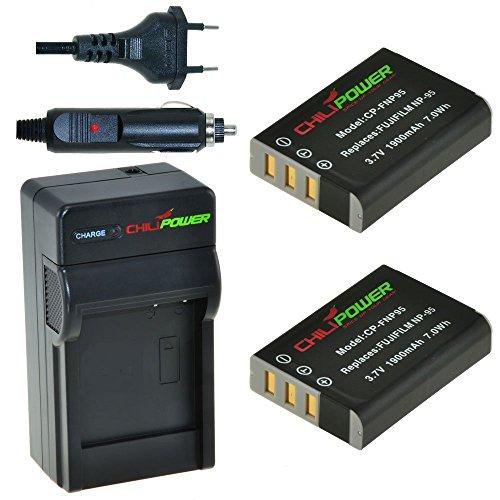 X-S1 NP-95 vhbw®KAMERA AKKU-LADEGERÄT MICRO USB für FUJI Fujifilm FinePix X100