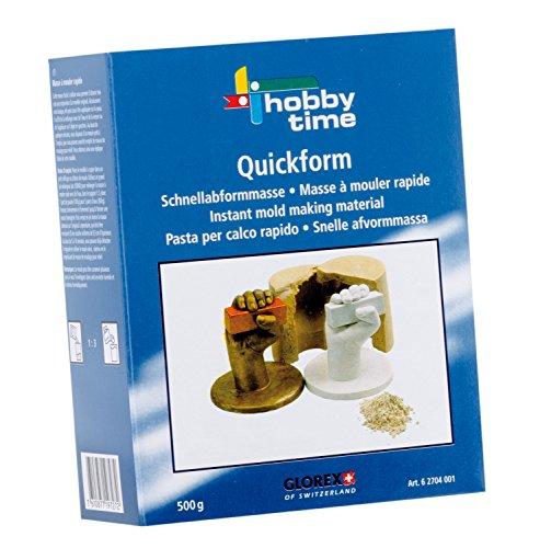 Glorex 6 2704 001 - Quickform Schnellabformmasse, 500 g, natürliche Stoffe, ungiftig und hautfreundlich, für Kinder geeignet