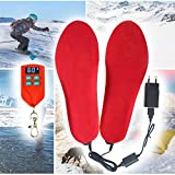 Rechargeable Heating Insole for Men and Woman, Wireless Foot Warmer Remote Control, Winter Shoes Heater,...