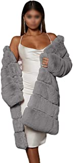 Women' Fur Coat Winter Warm Long Faux Fur Gilet Vest Sleeveless Waistcoat Body Warmer Faux Fur Jacket Thick Outdoor Outwea...