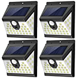 Solar Motion Sensor Lights Outdoor with 3 Lighting Modes, 270° Wide Angle Lighting, IP65 Waterproof. Bright Wireless Security Light for Deck Garage Yard Porch Fence(40 LED, 5500K, 4 Pack, Black)