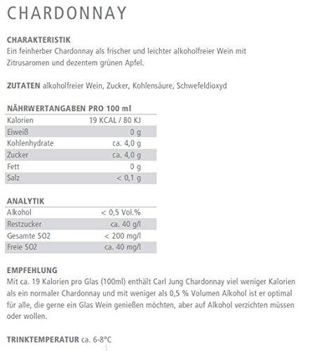 Carl Jung - alkoholfreies Weinpaket (3x0,75l) - Chardonnay, Riesling, Merlot - Weißwein & Rotwein - 2
