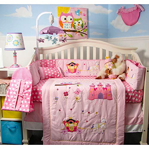 SoHo Baby Crib Bedding 10Pc Set, Princess Story