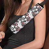 BECASE Cute Baby Panda Prints 2 unids/Set Almohadillas de cinturón de Seguridad universales cómodas Fundas de cinturón de Seguridad de Coche para niños cinturón de Seguridad Suave