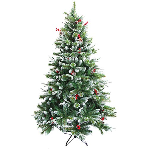 Snow Frosted Christmas Tree,Artificial Encryption Pine Xmas Tree Metal Stand for Christmas Decorations Green Reusable