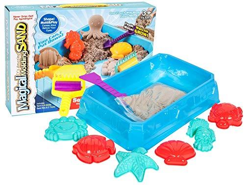 Premium Kinetisch zand - zee Life Set - knutselspel knutselen knutselspel Kinetics educatief spel familiespel met veel plezier zoals krokodildoc