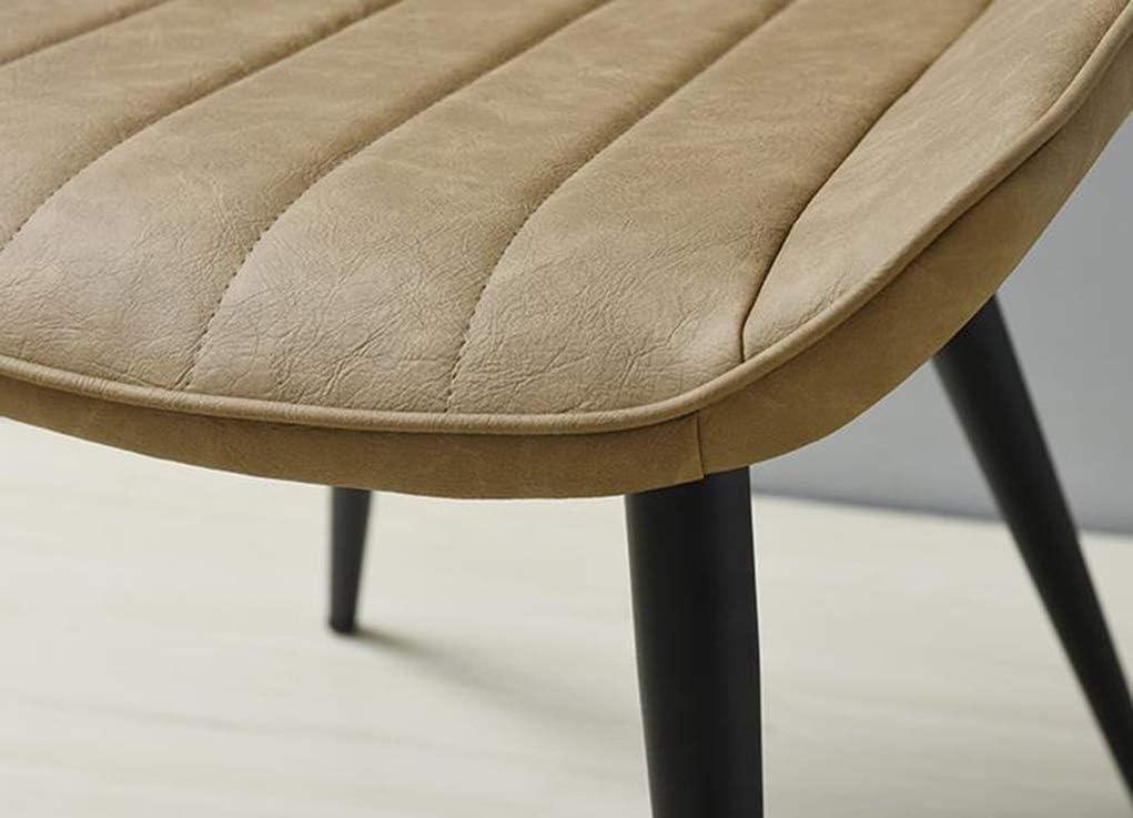 Chaise de Salle à Manger Chaise de salle à manger nordique simple Chaise en cuir industrielle rétro Chaise de café avec dossier de maison moderne (Color : Brown) Brown