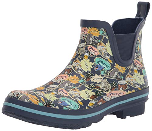 Skechers BOBS Women's 113382 Rain Boot, NVMT, 5