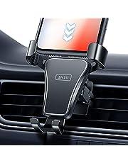 INIU Car Phone Holder, Hands-Free 360° Universal Alloy Auto-Lock & Release Air Vent Phone Mount for Car, SecureLock Car Cradle for iPhone 12 11 Pro X 8 Plus Samsung S20 Google LG GPS etc.