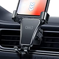 INIU Car Phone Holder, Hands-Free 360° Universal Alloy Auto-Lock & Release Air Vent Phone Mount for Car, SecureLock Car...