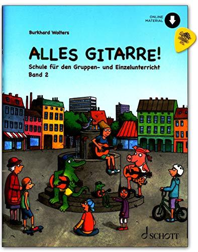 Alles Gitarre! Band 2 - Gitarrenschule für Gruppen- und Einzelunterricht - Lehrbuch (mit Noten), online Audio, Plek - ED23143 9783795716936