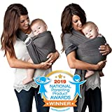 4 in 1 Baby Wrap Carrier and Ring Sling by Kids N' Such | Charcoal...
