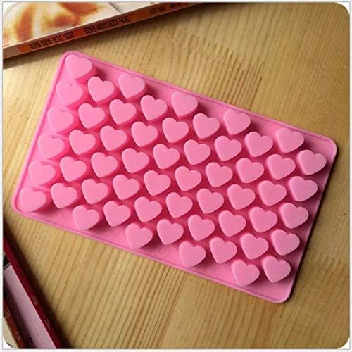 QZH 55 Mini Forma de corazón Alimento Molde de Silicona Fondant Bandeja de Chocolate Molde Lindo Helado Maker Molde Molde Gadgets de Cocina Herramientas,1pcs
