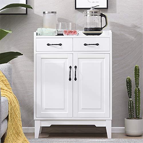 JOMSK Aparador Madera Accent Buffet aparador Sirviendo Armario con Puertas de Entrada Cocina Comedor Consola de la Sala de Estar (Color : Whte, Size : 67x35x94cm)