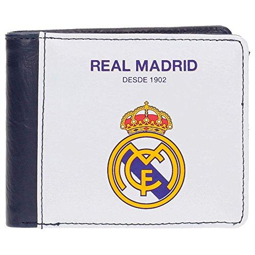 Real Madrid White RM Tarjetero, 10 cm, 0.09 litros, Blanco