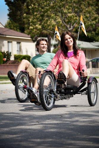 Mobo Shift 3-Wheel Recumbent Bicycle Trike. Reversible Adult Tricycle Bike, black Alabama