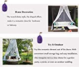 Moskitonetz Doppelbett Einzelbett Reise Mückennetz Bett Groß Moskitonetz Schützt vor Insekten und Mücken, für Camping und Zuhause - 8
