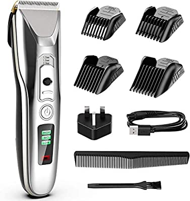 Paubea Cordless Hair Clippers for Men - Ceramic Blade Mens Hair Trimmer Beard Trimmer Hair Cutting & Grooming Kit Rechargeable by Paubea