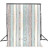 AIIKES 1.5Mx2.1M/5x7FT Tablero de Madera Fotografía Telones de Fondo Tablones de Colores Vinilo Fondos Fotográficos Bebé Recién Nacido para Estudio Fotográfico 10-440