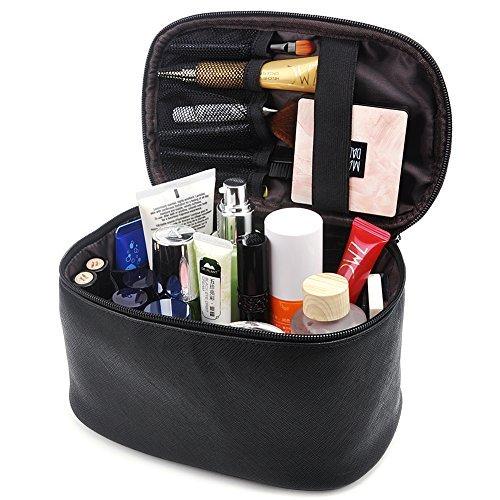Makeup Bag,365park Travel Cosmetic Case Organizer Bag with Brush Holder Wonderful Gift Z005 Black