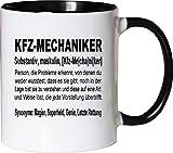 Mister Merchandise Kaffeebecher Tasse Kfz-Mechaniker Definition Geschenk Gag Job Beruf Arbeit Witzig...