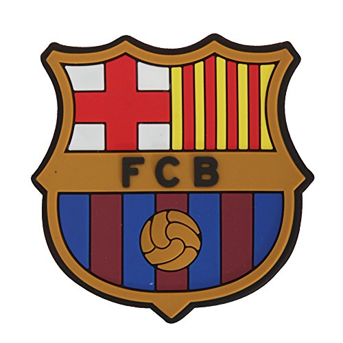 FCB FC Barcelona Official - Imán de Goma para Nevera con Forma de Escudo (Talla Única/Multicolor)