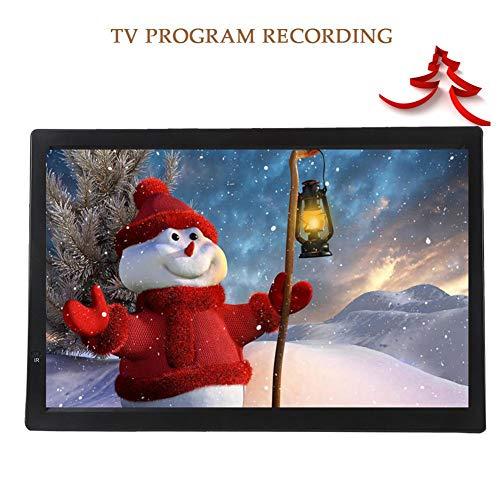 ASHATA 14 Zoll Tragbarer DVB-T/T2 Fernseher, LCD HDTV Digital Analog Fernseher Auto ATV/UHF/VHF Portable TV,HD 1080P Video/AV/HDMI//VGA/USB/SD/MMC-Karte Auto Digital TV mit Fernbedienung EU
