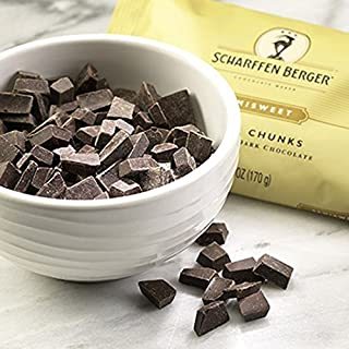 Scharffen Berger Fine Artisan Dark Chocolate Baking Chunks Semisweet -- 6 oz