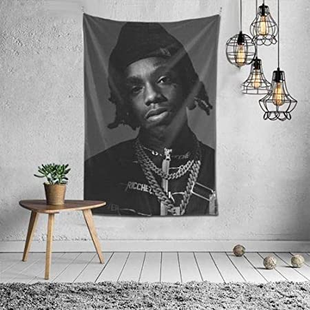 Amazon Com Verde Jungle Rapper Singer Ynw Melly Poster Tapestry Black Art Wall Hanging Home Decor For Living Room Bedroom 60x40 Inch Everything Else