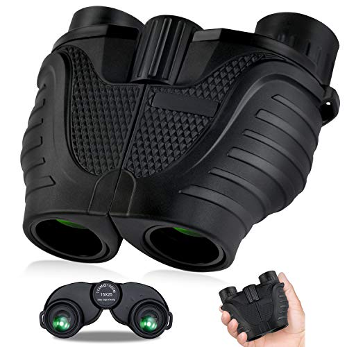 Binoculars 15x25, HD Professional/Waterproof Binoculars with Low Light Night Vision, Durable & Clear BAK4 Prism FMC Lens Binoculars. Suitable for Outdoor Sports and Concert, Bird Watching.