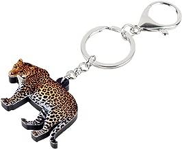 RVXZV Acrylic Leopard Key Chains Keychain Rings Jungle Animal Jewelry For Women Girls Handbag Purse Gift