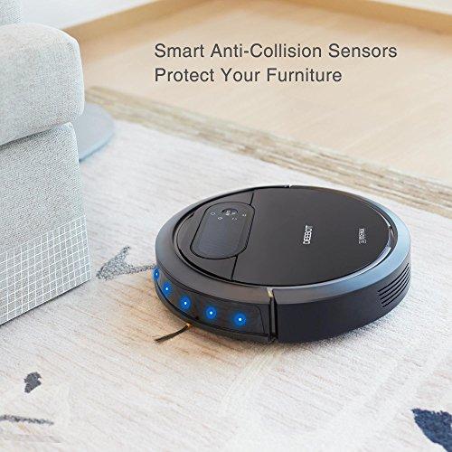 ECOVACS Deebot N78 Robot Vacuum Cleaner with Direct Suction, Sensor Navigation for Pet Hair, Fur, Allergens, Thin Carpet, Hardwood and Tile Floors (Certified Refurbished)