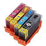 Cartouche d'encre rechargeable de remplacement pour encre HP 364 364XL,compatible...