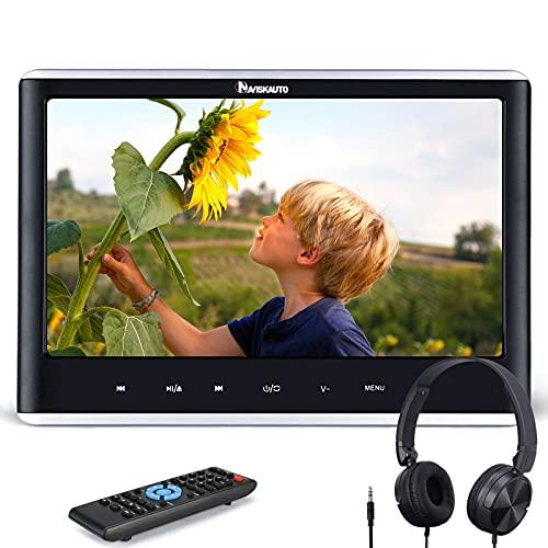 "NAVISKAUTO 12"" DVD Player für Auto Slot In DVD Player Kopfstütz Monitor 1366 * 768 TFT Bildschirm Touchbutton Memory SD USB AV In/Out 12V"