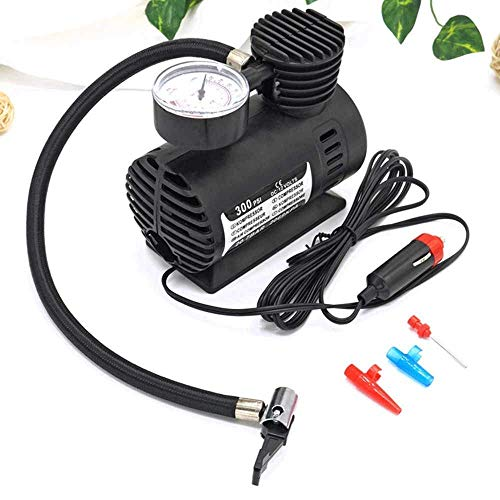 Flying Portable Air Compressor Air Pump Tyre Inflator for All Vehicle Tyre Car Bike Bicycle 12V DC 300 PSI (Black)