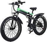 Bicicleta eléctrica de nieve, Folding Mountain Bike Electric City, Pantalla LED conmuta bicicleta eléctrica de 48V 10Ah Ebike 500W Motor, 120Kg de la carga máxima, portátil for almacenar Fácil Batería