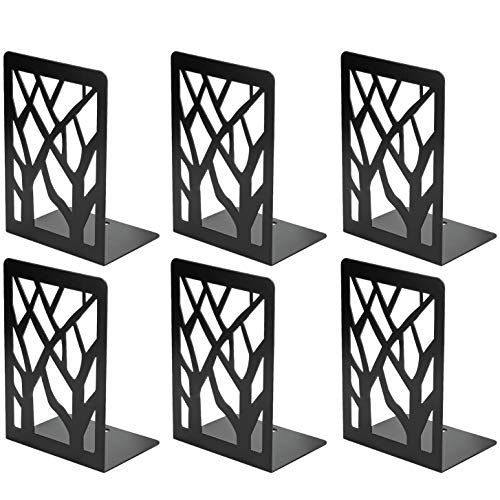 MaxGear Book Ends TreeDesignModern Bookends for Shelves, Non-Skid Bookend, Heavy Duty Metal Book...