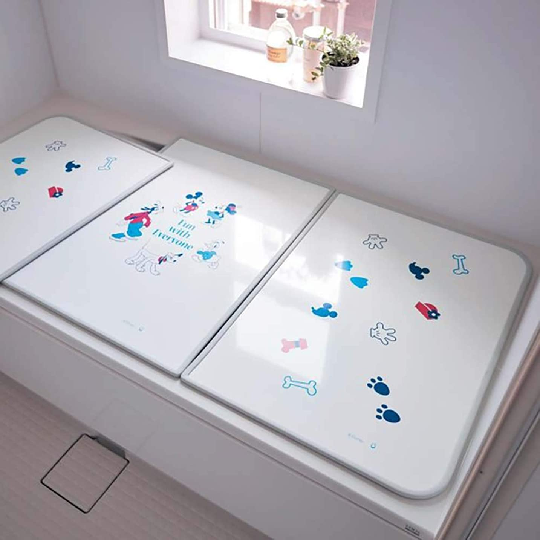 スノーケル適度にピラミッド[ベルメゾン] ディズニー 風呂ふた 抗菌 防カビ コンパクト 日本製 約158×73(3分割)