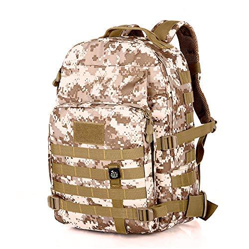 Athyior 40L 3P Tactische rugzak - Militaire rugzak Assault Packs Molle-tas met kompas Groot waterbestendig voor jagen Trekking Camping