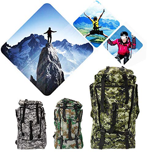 Ys-s Shop customization 90L Raincoat Nylon Multifunctional Backpack Outside Tactical Hiking Climbing Bag (Color : Light Green)