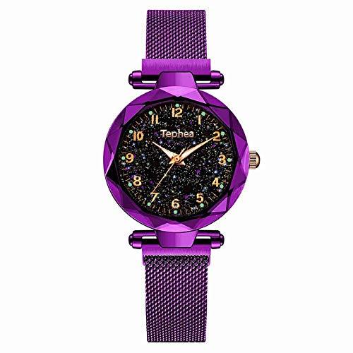 SHOUB Ladies Dress Watches Magnetic Starry Y Orologio da Polso da Donna in Oro Rosa Orologio al Quarzo Femminile Reloj Mujer Relogio Feminino