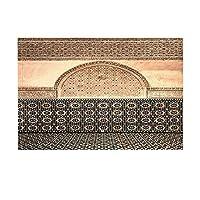 Assanu モロッコのバスの建物のタイル壁セラミック旅行パターン装飾ホームディスプレイ出入り口歓迎浴室浴室リビングルームのデリケートなカーペットをきれいに簡単に