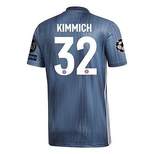 adidas FCB FC Bayern München 3rd Trikot Champions League 2018 2019 Herren Kimmich 32 CL Logos Set Gr S