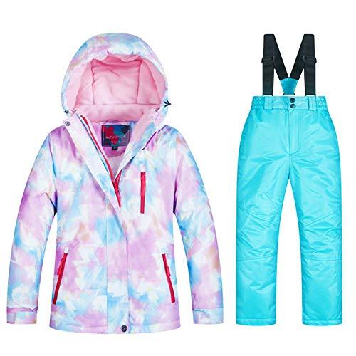 HoneybeeLY Skipak, skikleding, jas, mantel voor kinderen, boven- en ondergoed, voor de winter, waterdicht, warm, voor jongens en meisjes
