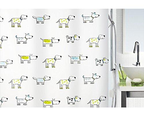William 337 WYZ Cortina de ducha con dibujos animados de baño PEVA cortina de ducha impermeable
