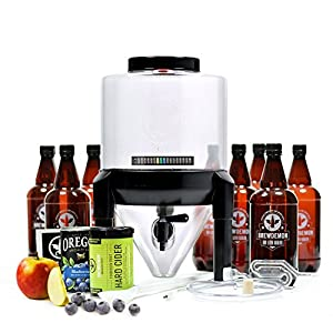 BrewDemon Hard Cider Kit Pro by Demon Brewing Company – Conical Fermenter Eliminates Sediment and Makes Wicked-Good Home…