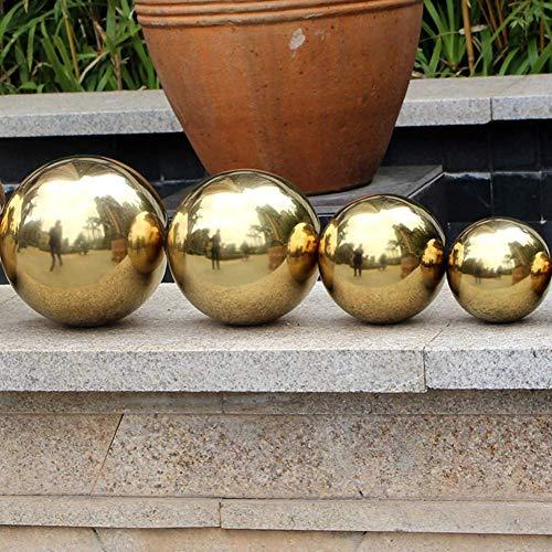 Yunhigh Blickball, 20cm Edelstahl Blick Kugel Ball Spiegel Kugel Kugel hohlen dekorativen Metall goldenen Ball Tischplatte Hausgarten Ornament