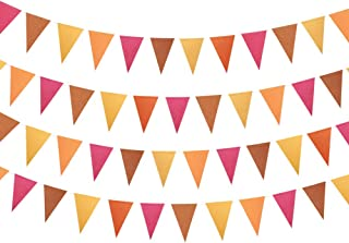 Thanks Giving Fall Triangle Garland Banner Party Decoration Banner Backdrop Party Supplies Bunting Kits for Baby Shower Kids Room Showcase Mantel Holiday Thanksgiving Wedding